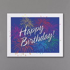 Spectacular Business Birthday Greeting Cards Custom Printed Discount At Check Out