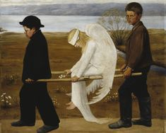 The Wounded Angel, Ateneum, Helsinki Hugo Simberg . Descriptiopn from Wiki: 'The Wounded Angel (Finnish: Haavoittunut enkeli) is a painting by Finnish symbolist painter Hugo Simberg. Georg Christoph Lichtenberg, Guernica, Angels And Demons, Fallen Angels, Arte Pop, Art Google, Art History, Art Museum, Angeles