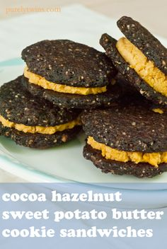 gluten free chocolate cookies with sweet potato butter filling