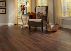 Dark and rich Tranquility Lake Fork Creek Cedar Click Resilient Vinyl