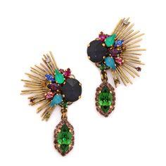 Crystal Statement Earrings l Erickson Beamon $346