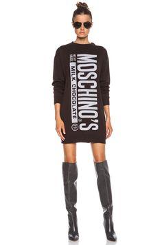 Moschino|Fantasy Print Sweater in Chocolate