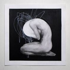 「Ayana Mizuno - Drawing, Carbon pencil and acrylic on paper  #art #artist #artwork #arte #kunst #decor #drawing #pencil #charcoal #carbon #people #abstract…」