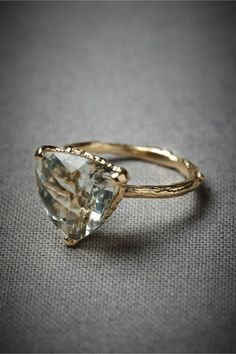 "14 Non-Traditional Engagement Rings We Say ""YES"" to via Brit + Co. http://www.bhldn.com/shop-new/evergreen-hollow-ring"