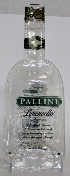 Pallini Limoncello Liquor Smashed Bottle Cheese Board Wire Beads Italy Footed