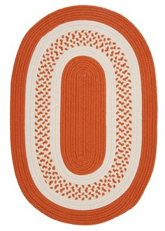 RugStudio presents Colonial Mills Crescent Nt21 Orange Braided Area Rug