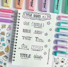 Bullet Journal Layout Ideas: 29 Unbelievably Gorgeous Spreads To Try – The Gorgeous List Bullet Journal Inspo, Bullet Journal Headers, Bullet Journal Banner, Bullet Journal 2019, Bullet Journal Aesthetic, Bullet Journal Writing, Bullet Journal Ideas Pages, Bullet Journal Layout, Bullet Journal Materials