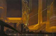Sketch by Syd Mead for Blade Runner directed by Ridley Scott, 1982