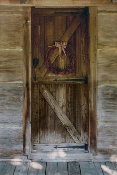"""""""old doors"""" by PastorLarry on Flickr - an old cabin on Summersville Lake.  Nicholas County, West Virginia ... sunbleached at the bottom."""
