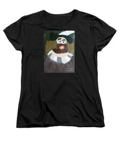 Patrick Francis Women's Black Designer T-Shirt featuring the painting Rembrandt 2014 - After Rembrandt Self-portrait by Patrick Francis