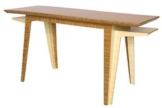 Brave Space Design Delta Desk in Amber Bamboo