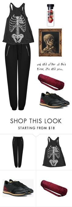 """""""Untitled #2122"""" by lbenigni ❤ liked on Polyvore featuring Forever New, American Apparel and Valentino"""
