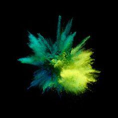 pigment fireworks & soft gradients « plenty of colour - greens