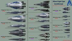 Systems Alliance Frigate Types Original vs Concept by reis1989.deviantart.com on @DeviantArt
