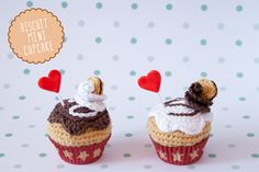 """Biscuit crochet minicupcakes By """"I am a Mess"""""""