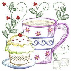 Tea Time Blocks 2, 12 - 3 Sizes!