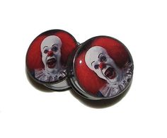 It Clown Plugs  1 Pair 2 plugs  Sizes 8g to 2  Made by GrudgePlugs, $19.95