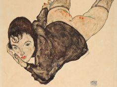 "Egon Schiele - ""Reclining Woman "", 1916 - Gouache, Watercolour and pencil on cream wove paper - 48 x 31 cm Gustav Klimt, Art For Sale Online, Online Art, Life Drawing, Painting & Drawing, Figurative Kunst, Art Graphique, Vintage Artwork, Erotic Art"