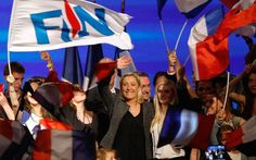Marine Le Pen ~ France's Front National Gaining in the Polls. FRANCE REPRESENTED AS A DIVIDED NATION BETWEEN LEFT AND RIGHT WING FACTIONS. THOSE WHO WANT PEACE AND THOSE WHO WANT REVENGE.