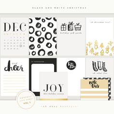 Black and White Christmas vol 1 2014 by Oh Snap Boutique on @creativemarket