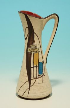 """Bay Keramik Vase WEST GERMANY 1960"""
