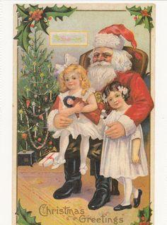 (P023) Cartolina - NATALIZIA CON BABBO NATALE #23 (Carta moderna)