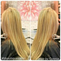 #highlights and #lowlights to bring this #blonde back to life. #lanza #fallcolors #hairstylist #healingcolor