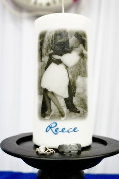 Mike and Jacqui Candles...military bride!