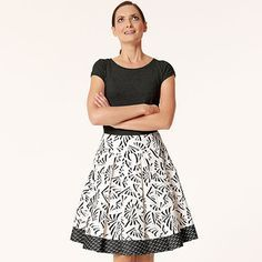 Schnittmuster: Faltenrock - ausgestellt - Download - Fashion Line Kollektion - Heft & Katalog - burda style