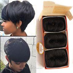 Short Quick Weave Natural Hair Pinterest Short Hair Styles