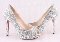 Bling wedding shoes bridal shoes sparkly prom by wearlifeshow