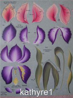 Donna Dewberry RTG Irises Tulip One Stroke Worksheet | eBay