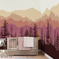 Instant wallpaper Ombre mountain pine tree forest scenery wall decal sticker mural for bedroom peel & stick - Ombre mountains, Forest scenery, Tree wallpaper, Mountain mural, - Wallpaper Wall, Nature Wallpaper, Forest Wallpaper, Bedroom Wallpaper, Wallpaper Ideas, Discount Bedroom Furniture, Pine Trees Forest, Forest Scenery, Wall Murals
