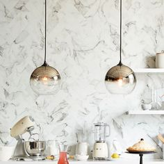Super cool!!!!!!!! Ombre Mirrored Pendant | west elm