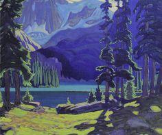 J. E. H. MacDonald - The lake O'Hara - canadian painting (848×708)