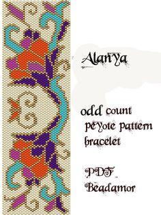 Peyote Pattern for bracelet: Alanya - INSTANT DOWNLOAD pdf by Beadamor on Etsy