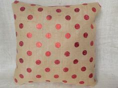 A personal favorite from my Etsy shop https://www.etsy.com/listing/492999154/red-polka-dot-burlap-faux-leather