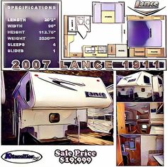 Little Truck, Used Rvs, Rvs For Sale, Truck Camper, Hunting, Trucks, Check, Caravan, Truck
