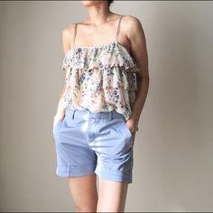 ⚡️SALE Zara essential basic short pants Zara short pants. This is size 02. Powder baby blue. Zara Pants