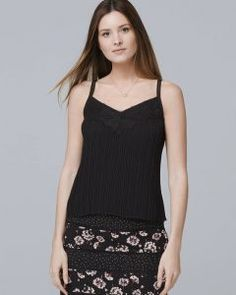 120da9f4be7 Women s Petite Pleated Cami by White House Black Market