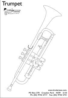 The trumpet is the musical instrument with the highest register in the brass family. Print it out and colour...