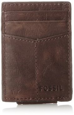 08d092cc61a Fossil Men's Ingram Magnetic Multi-Card Wallet, Brown, One Size Fossil Card  Wallet