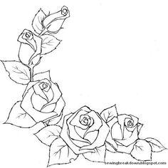 مجموعة رشمات تطريز اليدوي خياطة و تفصيل Embroidery Patterns, Rose Drawings, Art Drawings, Rose Tutorial, Flower Coloring Pages, Parchment Craft, Wood Burning Patterns, Pyrography, Coloring Sheets