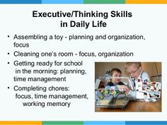 Building executive functions at home and school through games and tasks