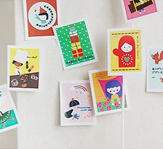 Palette Stamp style Sticker Set  everyday life by WonderlandRoom, $3.70