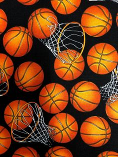 Basketball and Hoops on black Cotton Fabric 5814 Timeless Treasures Basketball Memes, Basketball Art, Basketball Players, Street Basketball, Basketball Videos, Basketball Birthday, Basketball Pictures, Basketball Jersey, College Basketball