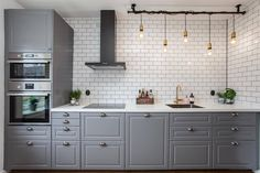 Ideas industrial kitchen design ikea for 2019 Kitchen Buffet, Grey Kitchen Cabinets, Kitchen Countertops, New Kitchen, Kitchen Decor, Bodbyn Kitchen Grey, Island Kitchen, Design Ikea, Küchen Design