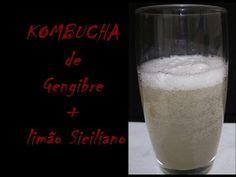 KOMBUCHA # 13 - CHÁ DE GENGIBRE + LIMÃO SICILIANO - YouTube Kombucha, Kefir, Glass Of Milk, Youtube, Food, Ginger Tea, Sicilian, Home, Essen