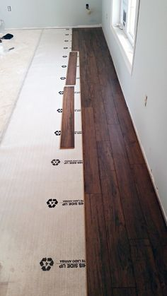 DIY: Floating Laminate Floor Installation   |   IHeart Organizing (@iheartorganize)