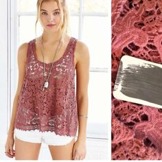 Ecote terra cotta lace top New with tags from urban outfitters  all reasonable offers made through blue offer button considered! Not interested in trading  Urban Outfitters Tops